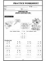 Maths Subtraction (Simple Subtraction)