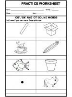 English 'od', 'ox' and 'ot sound words