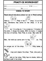 English Vowel 'O' Story