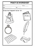 English Circle the letter Q