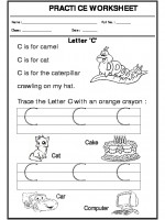 English Trace the letter C