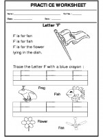 English Trace the letter F