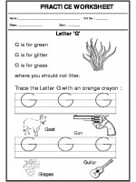 English Trace the letter G