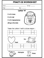 English Trace the letter H