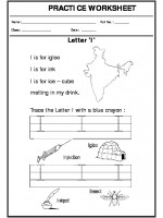 English Trace the letter I