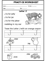 English Trace the letter J