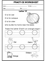 English Trace the letter O