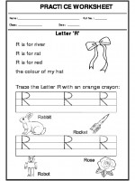 English Trace the letter R