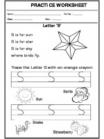 English Trace the letter S