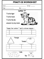 English Trace the letter T