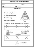 English Trace the letter X