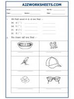 Language Class I - Hindi Practice Sheet-02