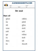 A2Zworksheets: Worksheets of Language - Hindi - Hindi Practice sheet
