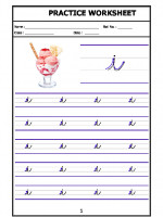 English English Cursive Writing - Alphabet i