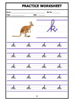 English English Cursive Writing - Alphabet k