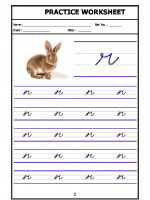 English English Cursive Writing - Alphabet r
