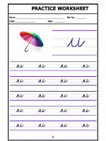 English English Cursive Writing - Alphabet u