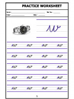 English English Cursive Writing - Alphabet w
