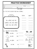 Language Hindi Worksheet - Singular Plural in Hindi