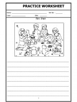 Language Hindi Worksheet - Picture description in Hindi