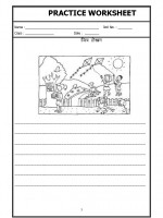 Language Hindi Worksheet - Picture description in Hindi-02