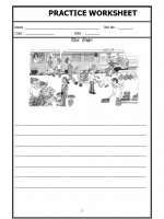 Language Hindi Worksheet - Picture description in Hindi-03