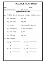 Language Hindi Grammar- shrutibhinarthak shabd
