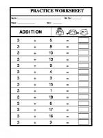 Maths Class-I-Addition-03